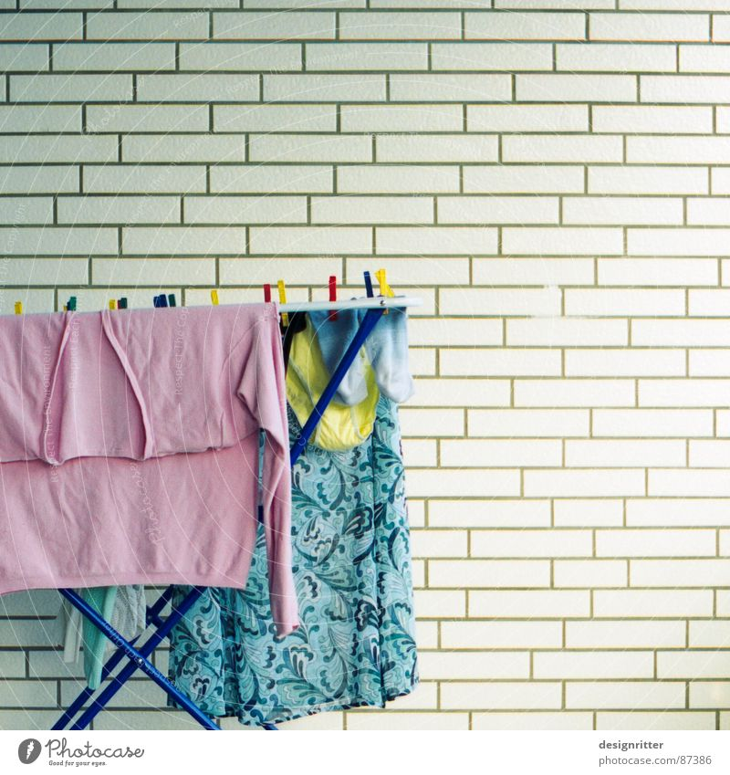 Yellow Pink Stockings Pallid Laundry Underpants Household Pastel tone Tumble dryer