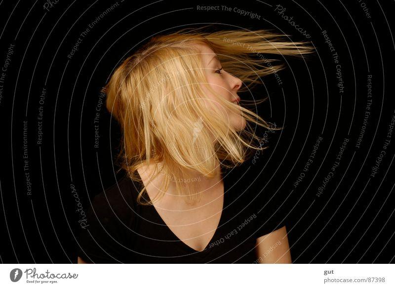 Joy Black Freedom Hair and hairstyles Blonde Wind Sweet Rock'n'Roll Music Rock music Dark background