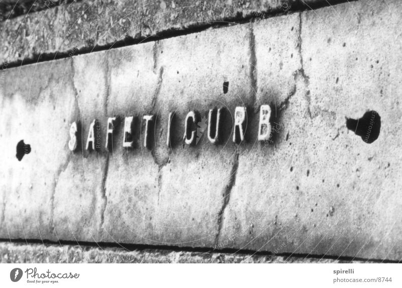 safeticurb Typography Letters (alphabet) Things letter capitals Street