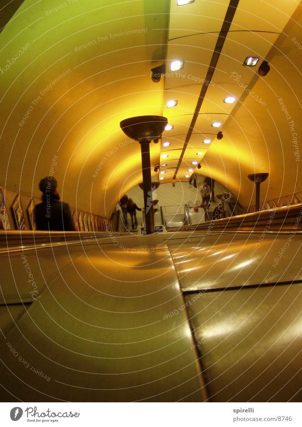 Lighting Architecture Stairs Tunnel Underground London London Underground Escalator