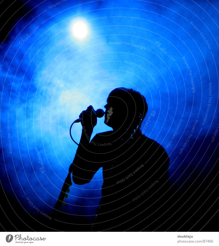 popstar silhouette Pop music Stage Live Microphone Singer Light Black Rock music Entertainment Shows Concert Outdoor festival Young man Pastime Make music Man