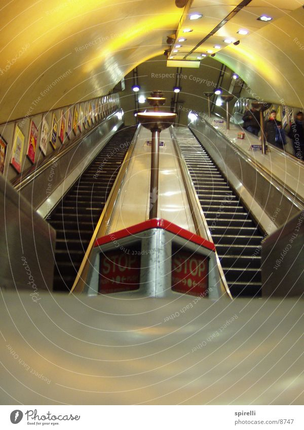 Lighting Architecture Stairs Stop Tunnel Underground London London Underground Escalator