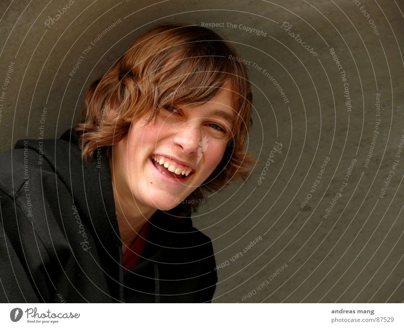 laugh Vaulting Halfpipe Joy Lust Laughter Joie de vivre (Vitality) boy Hair and hairstyles concave enjoy fun happy happiness Enthusiasm To enjoy
