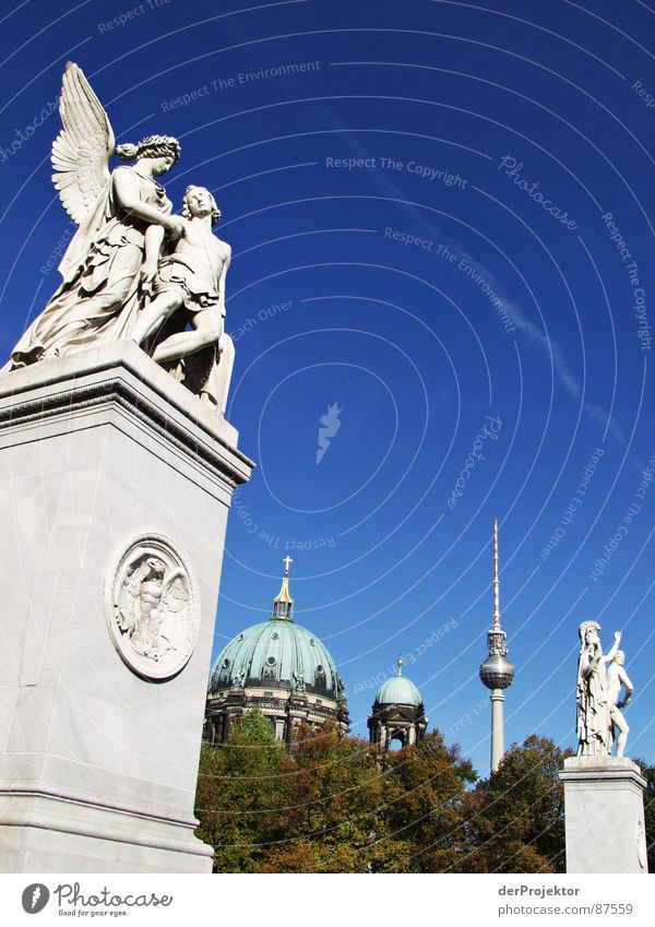 stony love Pleasure garden Bla Sculpture House of worship Statue Historic Angel Berlin Sky alex Stone Dome