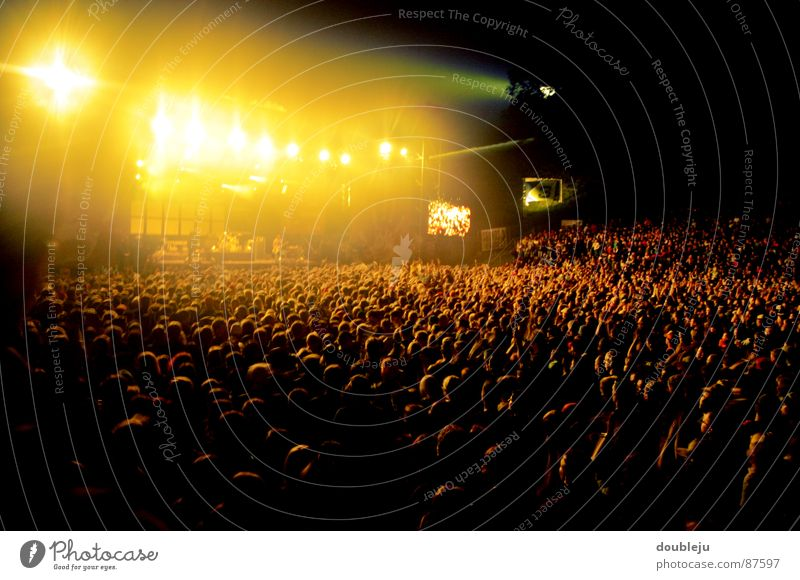 listen to music with friends Make music Outdoor festival Live Stage Night Events Stage lighting Light Lamp Electricity Concert Crash Volume Floodlight Song