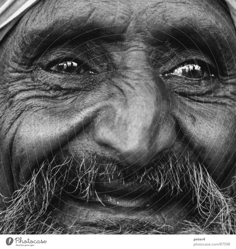 Human being Eyes Laughter Black & white photo Foreign Homeless Refugee