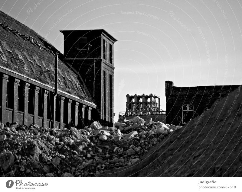 industrial romance Needy Ruin Facade Brick Decline Hannover Factory Rubber Might Historic Fate War Useless Futile Scrap material Rust Fear Dark Past