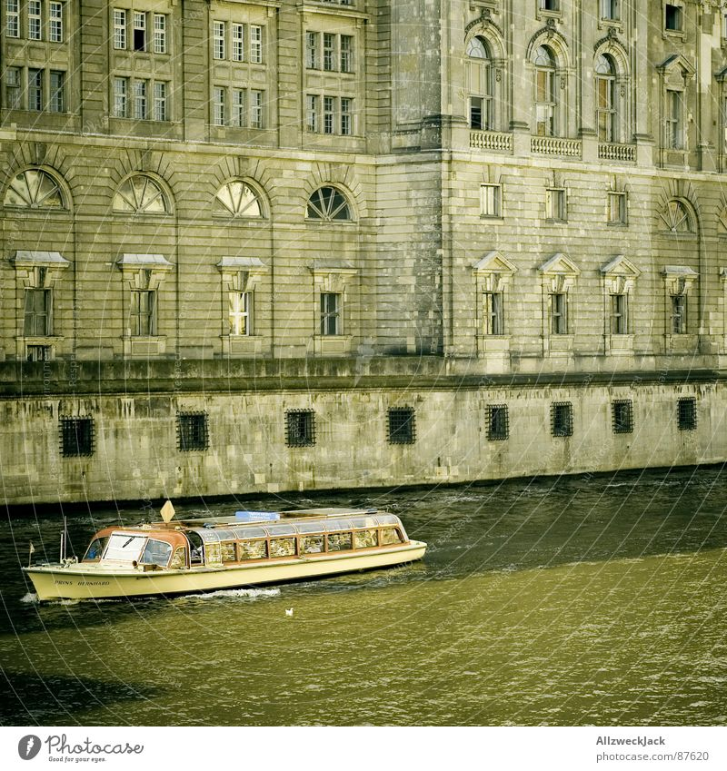 Water Green Berlin Watercraft Brown Dirty Architecture Facade Tourism River Culture Historic Capital city Sightseeing In transit Spree
