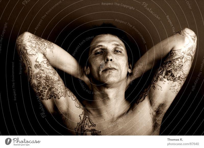 Man Black Far-off places Sadness Arm Empty Grief Gloomy Broken Tracks Desire Longing Lust Tattoo Shoulder Desire