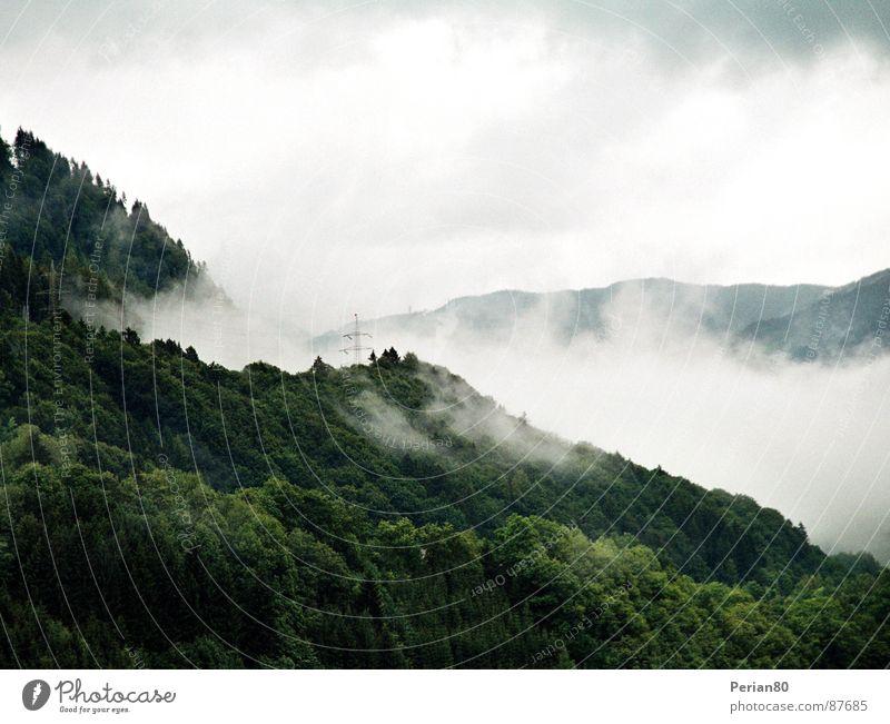 Sky Green Clouds Mountain Landscape Fog Vantage point Vail