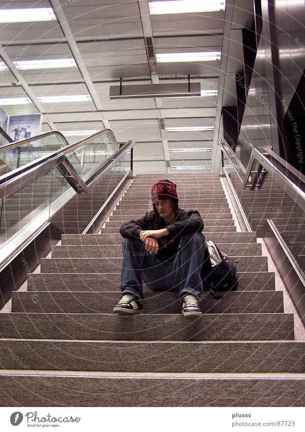 Old Relaxation Red Calm Style Going Dream Stairs Footwear Break Cap Fatigue Airport Boredom Escape Stagnating