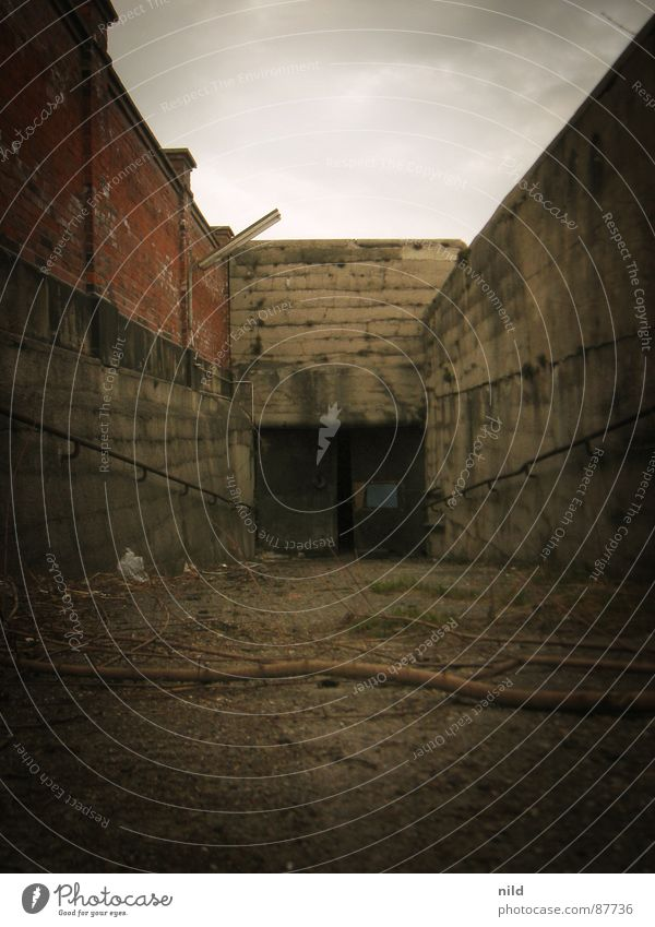 Loneliness Dark Wall (barrier) Fear Industrial Photography Mysterious Gate Derelict Tunnel Entrance Handrail Panic Downward Mystic Remote Passage
