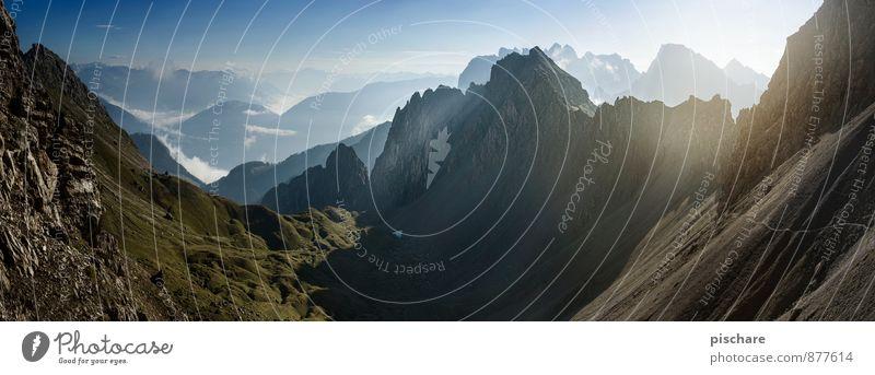 Nature Landscape Environment Mountain Freedom Beautiful weather Adventure Peak Sharp-edged Gigantic Dolomites
