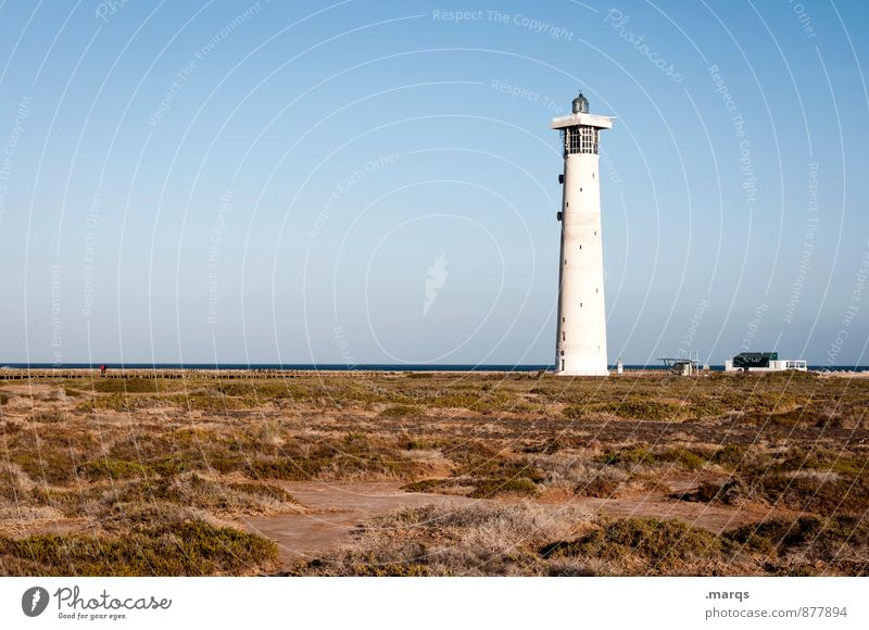 nightlight Vacation & Travel Tourism Trip Summer Summer vacation Lighthouse Nature Landscape Earth Cloudless sky Horizon Beautiful weather Relaxation Simple