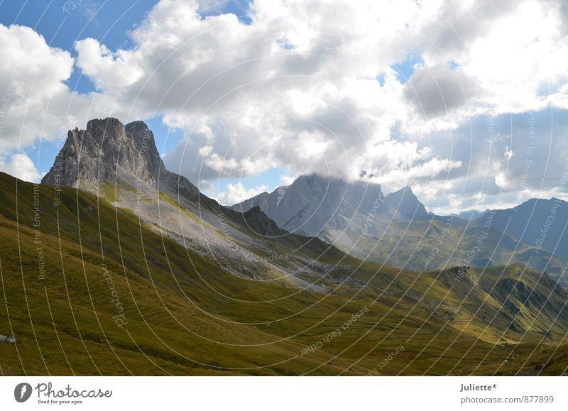 Sky Nature Summer Landscape Clouds Joy Far-off places Mountain Movement Meadow Autumn Grass Happy Horizon Rock Weather