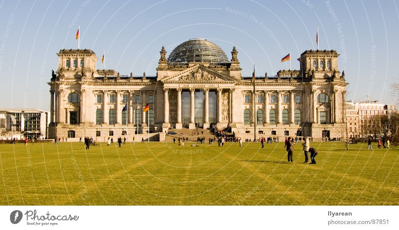 Berlin Architecture Beautiful weather Historic Reichstag