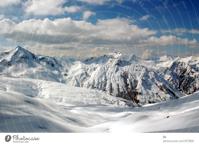 Vacation & Travel Clouds Snow Mountain Alps Winter sports
