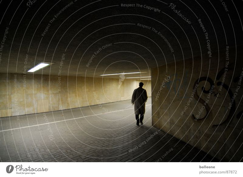 Loneliness Going Threat Mysterious Tunnel Eerie Underpass Cycle path Mood lighting