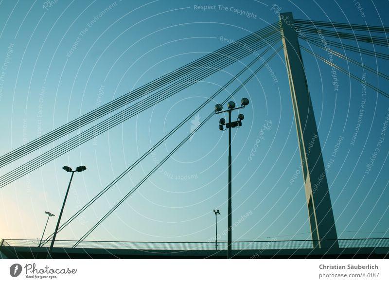 Yet Another Bridge Overpass Lantern Street lighting Mannheim bliblablub Harbour Sky Pylon