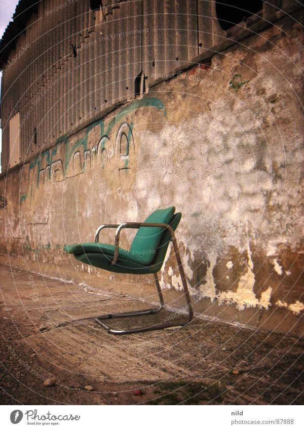 Green Loneliness Industry Chair Putrefy Munich Derelict Furniture Shabby Warehouse Cozy Seating Mexico Storage Designer