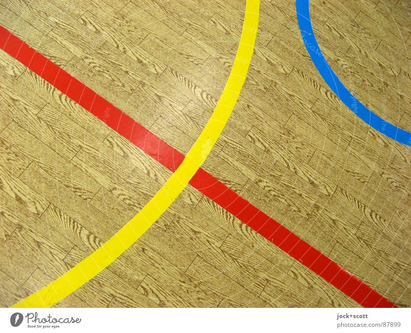 lines on imitation wood, RGB Line Moody Design Concentrate Arrangement Perspective Cross Norm Geometry Rule Playing field Discern Meeting point Second-hand