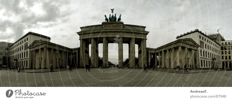 Berlin Wall (barrier) Germany Large Places Peace Middle Gate Traffic infrastructure Panorama (Format) Capital city Reunification Brandenburg Government Brandenburg Gate The Wall