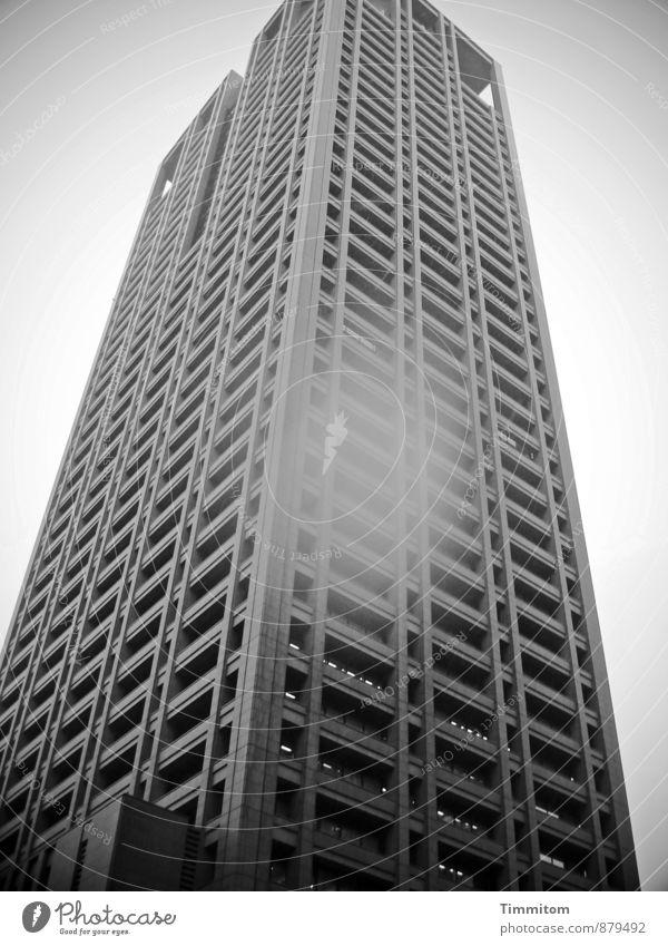 Vacation & Travel Black Window Emotions Gray Line Rain High-rise Esthetic Concrete Patch Story Japan Bad weather Osaka