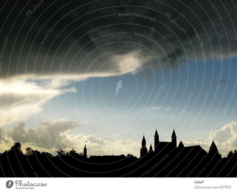Sky Black Clouds Dark Europe Netherlands Maastricht
