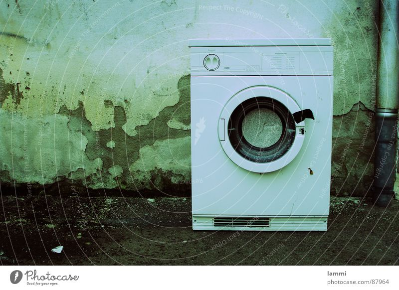 Water Old Green Wall (barrier) Dirty Clothing Corner Clean Cleaning Furniture Washing Laundry Washer Dappled Detergent