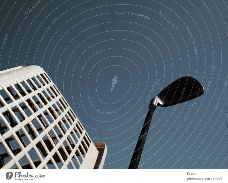 Sky Blue Window Cold Architecture Small Jump Facade Concrete Design High-rise Lantern Services Golf Statue Boredom