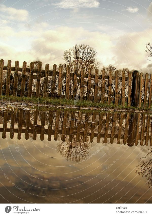 one I still have ..... Barbed wire Fold Horizon Fence Meadow Footpath Puddle Dramatic Wind Passion Middle Symmetry White balance Clouds 2 Beautiful