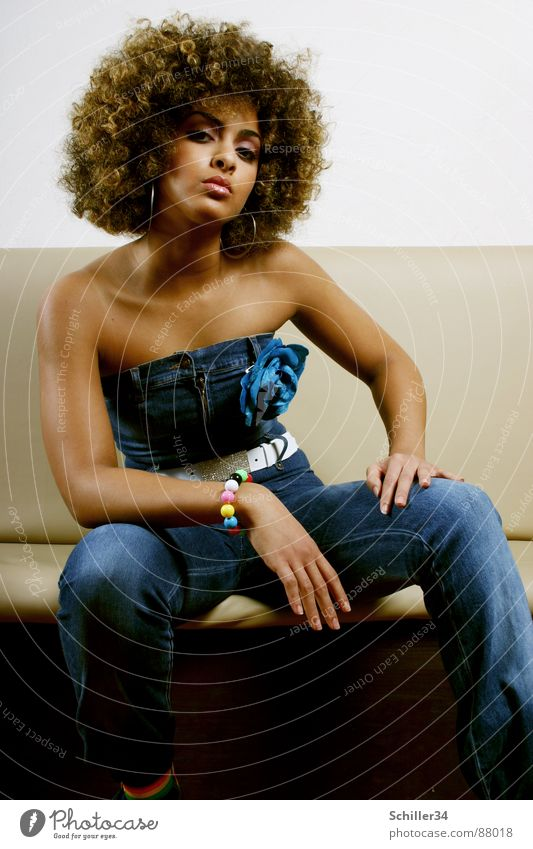 FATMA Jeans Moslem Africans Woman Lady Beauty Photography Frizzy Portrait photograph Beautiful Thin Brown Black Morocco Easygoing Curly Arabia