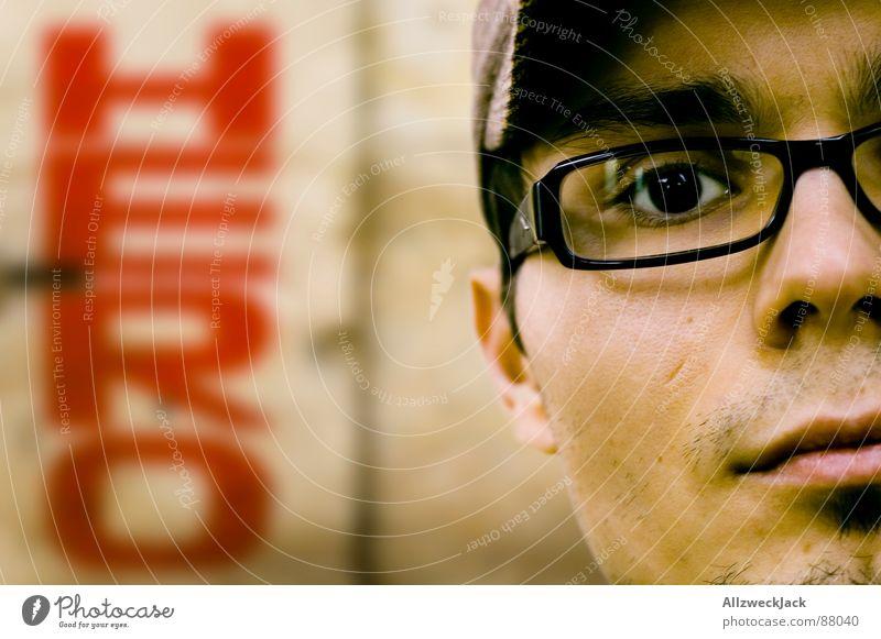 And then a Hero comes along.. Portrait photograph Half Eyeglasses Superman Old Unemployment Harmful Unshaven Leading man Heroism Skin color Graffiti Man Trust