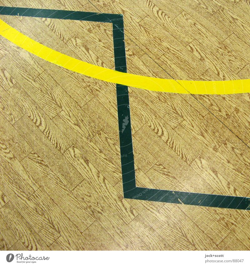 zigzag, lines on imitation wood Line Sharp-edged Brown Yellow Design Cross Norm Geometry Rule Border Playing field Meeting point Direction Second-hand Connect