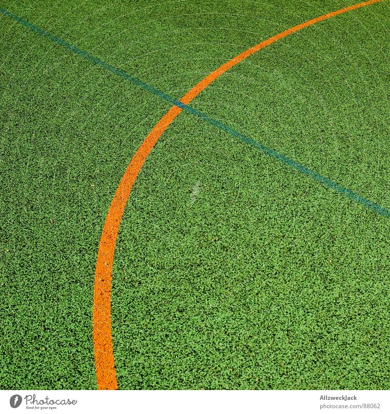 less is more Basketball arena Sporting grounds Bend Line Playing field Places Ball sports Sports Orange around the corner Minimalistic