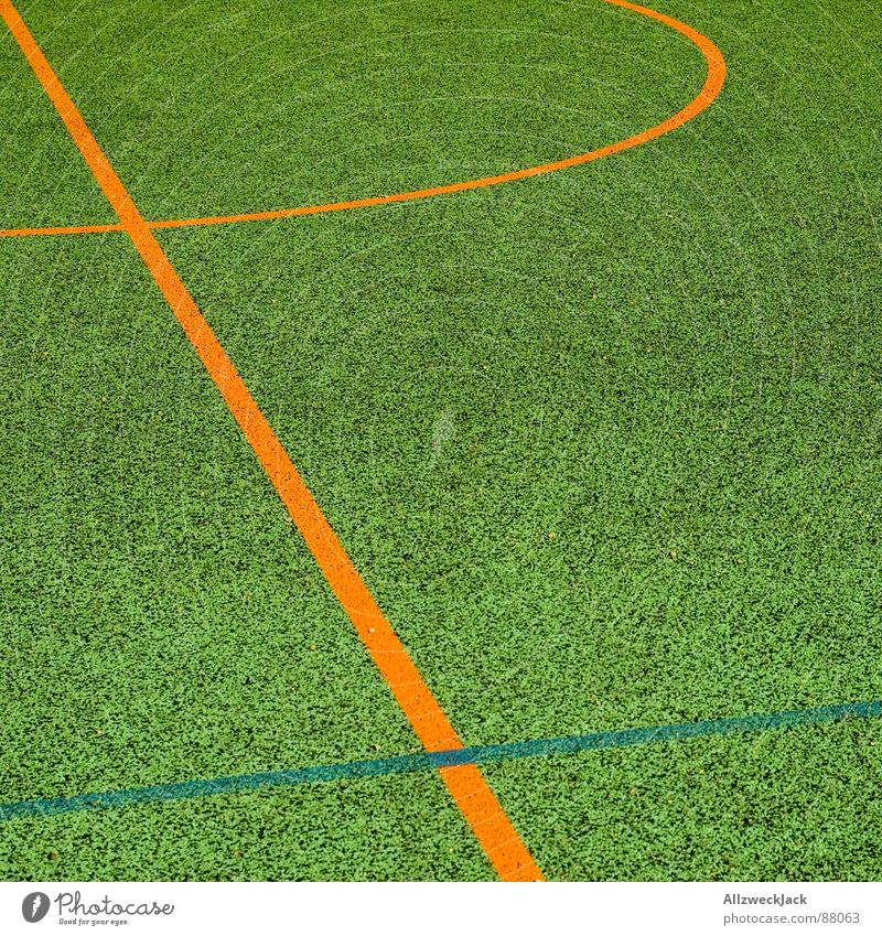 a piece of playing field Basketball arena Sporting grounds Bend Line Playing field Places Ball sports Sports Orange around the corner Minimalistic