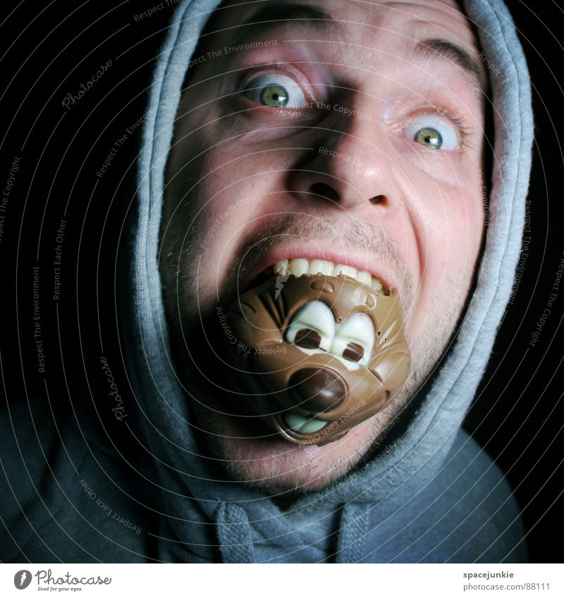 Joy Face Eyes Nutrition Eating Sweet To enjoy Chocolate Freak Meal Hooded (clothing) Gourmet Abscond