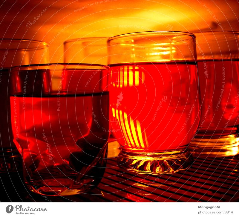Red Nutrition Orange Glass Icebox