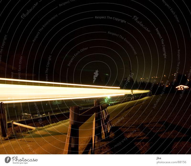 Black Wood Lighting Transport Railroad Driving Village Railroad tracks Fence Illuminate Floodlight Tar Placed Wooden stake