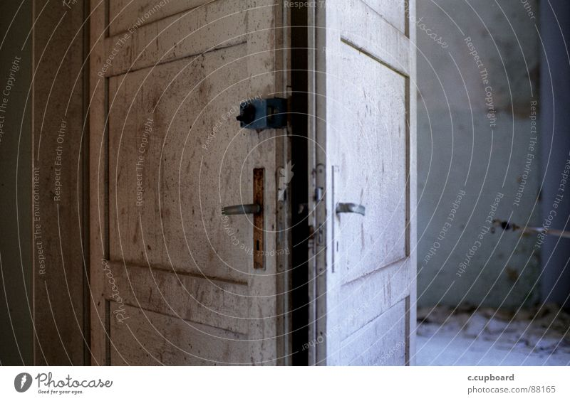 Clouds Loneliness Colour Lanes & trails Door Painting (action, work) Decline Pallid Door handle Divide Blow Torn Bad weather Shaft of light