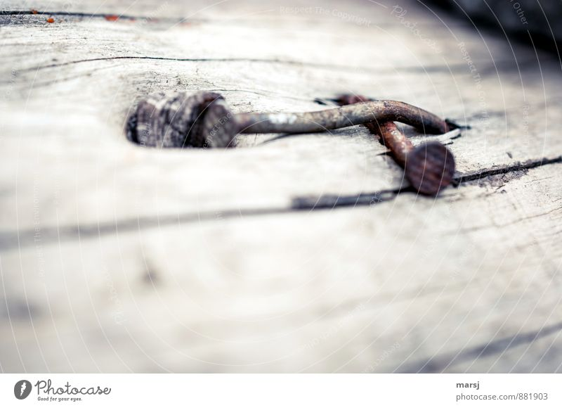 Old Dark Sadness Gray Wood Metal Together Gloomy Simple Rust Steel Crucifix Flat Nail Banal Curved