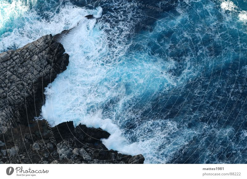 Blue Water Vacation & Travel Summer Ocean Loneliness Waves Grief Climbing Dive Refreshment Spain Goodbye Majorca Cliff Wilderness