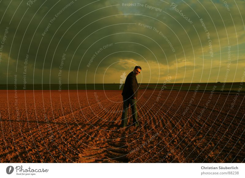 LOOKING BACK Going Field Meadow Horizon Sunset Looking Man Sky Loneliness Shadow christian neatly look back look over one's shoulder