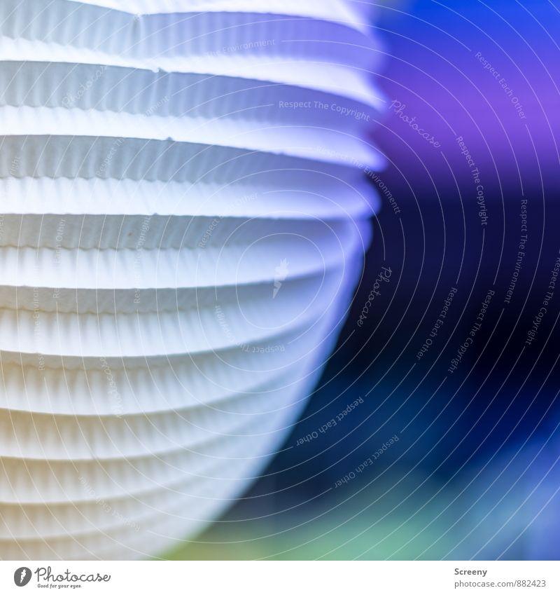 Lantern | UT Cologne Paper Decoration Lamp Lampion Illuminate Round Blue Multicoloured Joy Ease Colour photo Exterior shot Detail Deserted Day