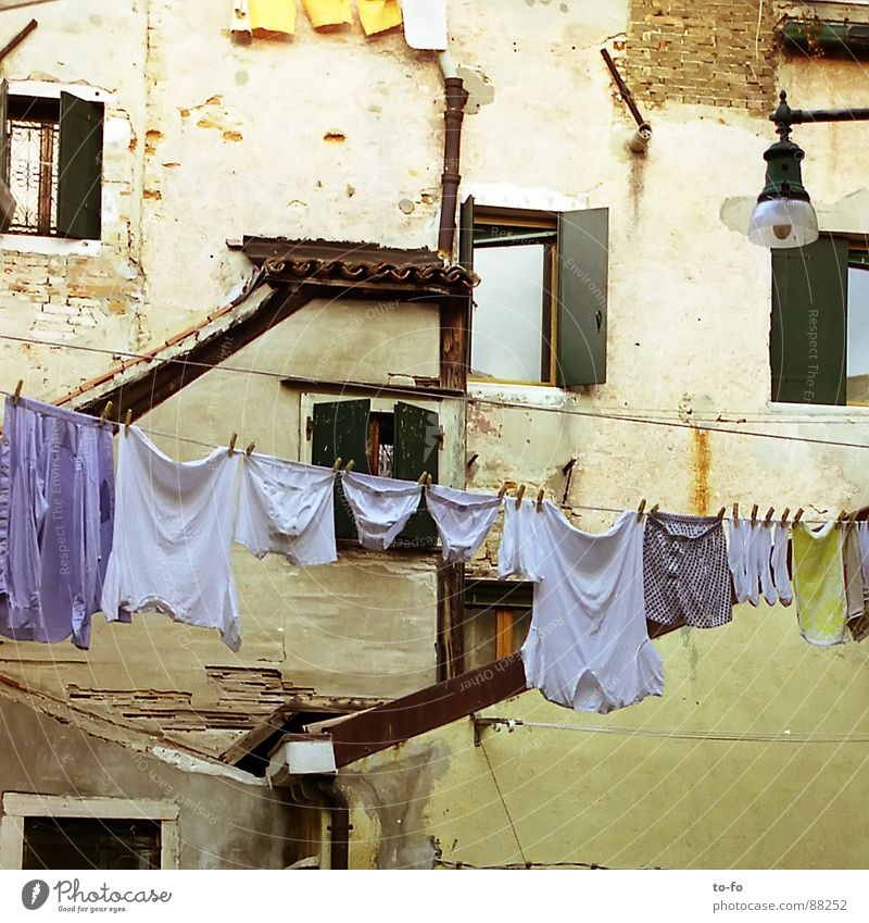 City Vacation & Travel Window Facade Corner Italy Narrow Laundry Household South Clothesline Washing day