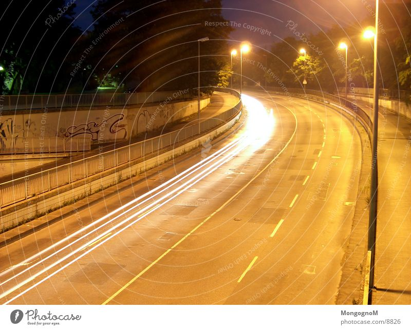 Street Speed Curve Tracer path