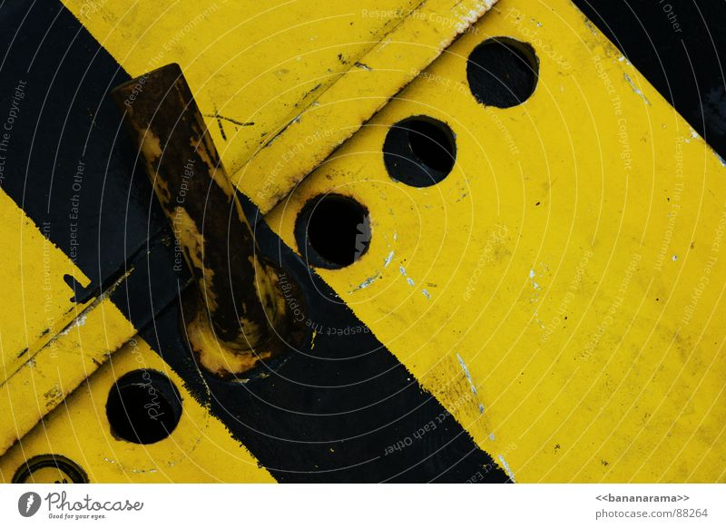 industrial warning Yellow Black Carrier Winterthur Industry Metal Construction site Structures and shapes