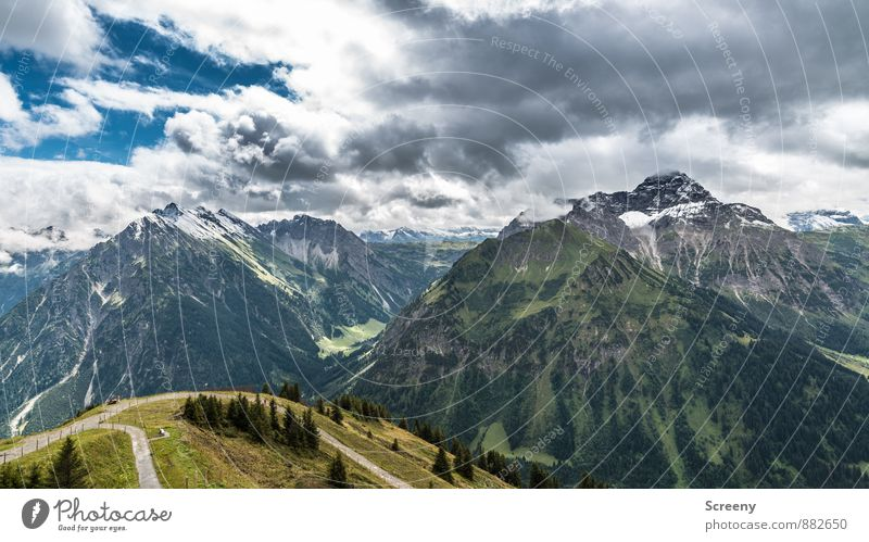 Kleinwalsertal / Fellhorn Vacation & Travel Tourism Trip Adventure Far-off places Freedom Mountain Hiking Nature Landscape Sky Clouds Summer Weather Rock Alps