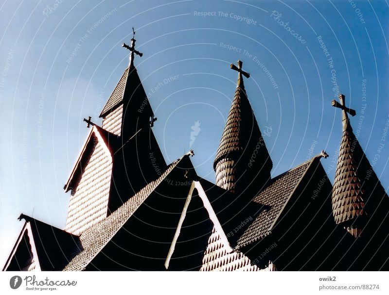 sign of faith Vacation & Travel Tourism Far-off places Freedom Summer vacation Back Beautiful weather Church Tower Roof Tourist Attraction Landmark Monument
