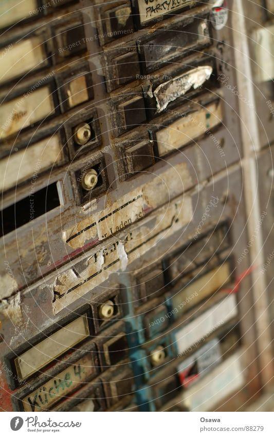 Old Loneliness Dirty Empty Derelict Entrance Bell Vacancy Name plate Door opener